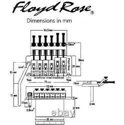 Genuine Floyd Rose Special Series Tremolo Bridge set BLACK NICKEL & R2 Nut