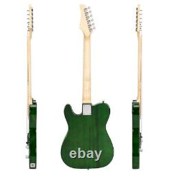 Glarry Tele-styled Electric Guitar Maple F-board Solid Set & Tool UK Stock Green