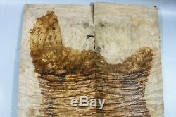Golden Camphor Wood burl Bookmatch Guitar Top Set Luthier-ONE AND ONLY 7186