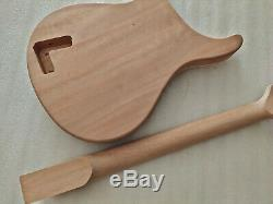 Good 1 set unfinished guitar neck and body PRS style guitar kit