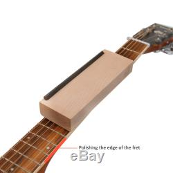 Guitar Fret File Set with Wooden Handles Rasp for Guitars Frets Grinding NEW