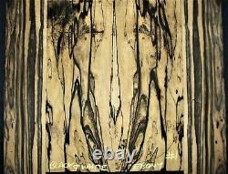 Guitar Luthier Tonewood BLACK & WHITE PALE MOON EBONY acoustic Backs Sides SET