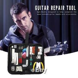 Guitars Repair Maintenance Tool Set Guitar Toolkit with String Cutter Ruler NEW