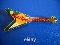 HRC Hard Rock Cafe 5 Pin Set Stockholm Black Killer 3 Guitars 2 other New