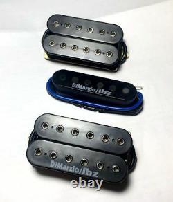 HSH Ibanez Prestige Guitar Dimarzio/IBZ USA Black Humbucker Pickup set
