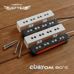 Jazz Bass Pickup Set for Bass Guitar HandWound AlNiCo5 Custom 60's