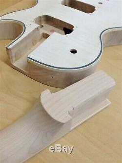 LP Electric Guitar DIY Kit, No-Soldering, Maple Set Neck, Black Hardware 238DIY SMB