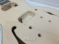 Left-Handed Electric Guitar 239LH DIY Kit, No-Soldering, Set Neck, Semi-Hollow Body