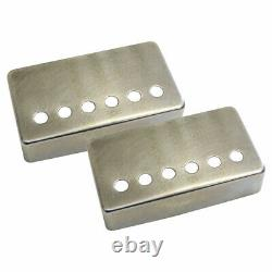 MASTER RELIC Aged Nickel Silver Humbucker Covers Set for Vintage Gibson Guitars