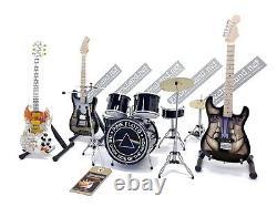 Mini live set PINK FLOYD tribute 14 miniature drum guitar david gilmour gadget