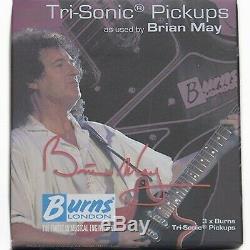 NEW Burns London Brian May Tri-Sonic Set 3 Pickups Guitar METAL CHROME COVER