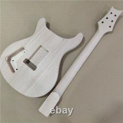 New 1 set unfinished guitar neck and body PRS style electric guitar kit DIY part