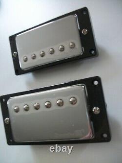 New Set Lace Humbuckers Alnico 7,7k/11,6k Chrome For All Guitars