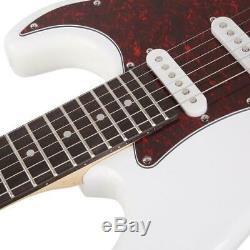 New Stylish School Band Student Electric Guitar Set Music Instrument White