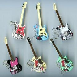 New Takara Tomy ARTS Disney Guitar Collection keychains Whole set of 6 guitars