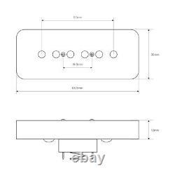 OriPure Soap Bar P90 Pickup Set Alnico 5 Neck + Bridge Pickups for SG LP Guitar
