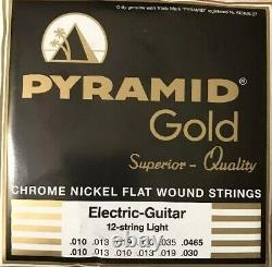 Pyramid Gold Flatwound 12 String 10-46 Guitar Strings Set Flat Wound