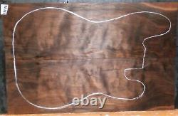 Quilted Claro Walnut Wood 10196 Luthier 5A Grade Guitar Top Set 22x 14.75x. 375