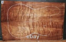 Quilted Curly Maple Wood 9959 Luthier Solid Body Guitar Top Set 25x 15.5x. 500