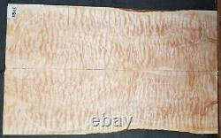 Quilted Maple 5A Instrument Wood 11545 Solid body Guitar Top Set 23.5x 14x. 437