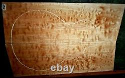 Quilted Maple LES PAUL Wood 8369 Luthier Carved Top Guitar Set 23.5 x 16 x. 75