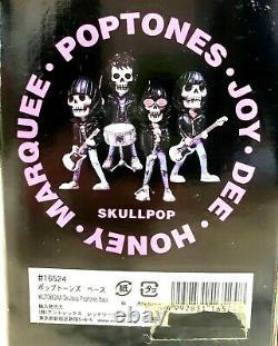 Ramones Figure Skullpop Poptones Guitar, bass, singer, drum complete 4set NEW