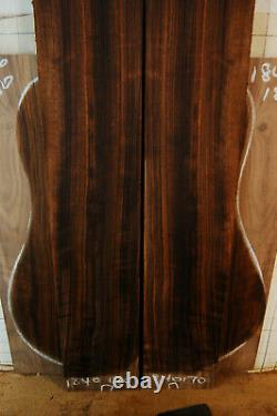 Ribbon figure curly black walnut tonewood guitar luthier set back and sides