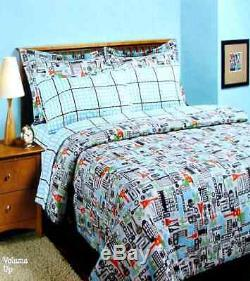 Rock Band Volume Up Queen Comforter Sheets Shams Bedskirt 8pc Bedding Set New