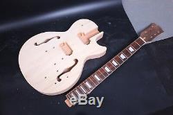 Set Mahogany F hole Guitar Body+Neck Diy Electric Guitar Project