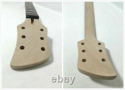 Set Neck Electric Guitar DIY Kit, Solid Mahogany Body, H-H-H, No-Soldering. DKERK