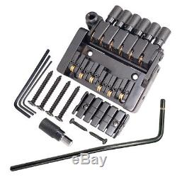 Set of 6 String Tremolo Bridge Tailpiece for Headless Electric Guitar Parts
