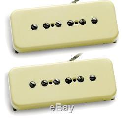 Seymour Duncan Antiquity P90 Soapbar Aged Cream Passive Guitar Pickup Set