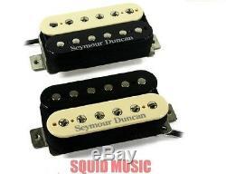 Seymour Duncan Pearly Gates Zebra Humbucker Guitar Pickup Set SH-PG1b & SH-PG1n
