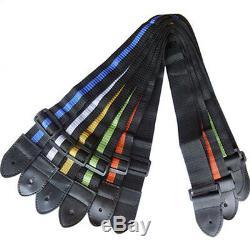 Simple Nylon Adjustable Belt New Acoustic Electric Guitars Straps Blue Hot Set