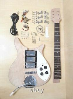 Solid Mahogany Body & Neck, NO-SOLDERING Electric Guitar DIY Kit, Set-Neck. DKERK