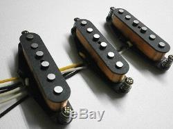 Stratocaster A3 Pickups SET 50s LEFTY Strat HandWound Left Handed Hendrix Guitar
