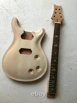 Unfinished 1 set guitar neck & body PRS style electric guitar kit DIY part 24.75