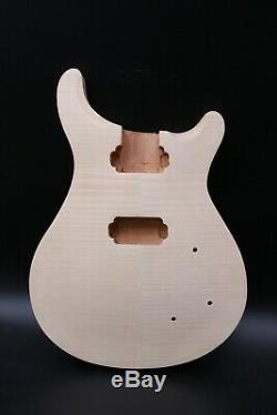 Unfinished Guitar body Mahogany Flame Maple Wood DIY electric guitar Set in #US