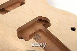 Unfinished Guitar body Set In DIY electric guitar Mahogany Maple Cap LP Style