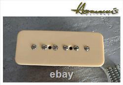 Vintage P 90 Soap Bar Guitar Pick Up Set, authentic 52s Sound & Style, handwound
