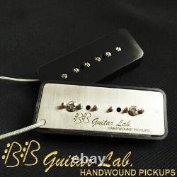 Vintage P90 Soap Bar Pickups AlNiCo 5 Set Hand Wound BB Guitar Lab