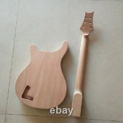 1 Ensemble Guitare Électrique Maple Mahogany Corps Et Manche Prs Kit Pièces De Guitare Diy