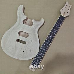1 Ensemble Inachevé Guitare Cou Et Corps Prs Style Kit De Guitare Électrique