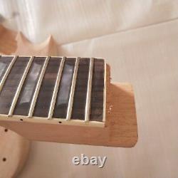 1 Ensemble Nouveau Col Et Corps Électriques Inachevés De Guitare Pour Des Kits De Guitare De Modèle De Sg