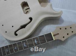 1 Jeu De Guitares Et Manche Non Finis Pour Kit De Guitare De Style Prs