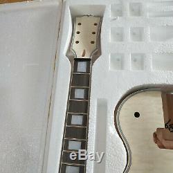 1 Jeu Inachevé Guitare Cou Et Corps Bricolage Kit Guitare Électrique Style Lp