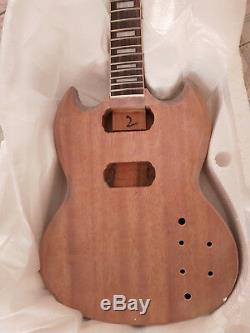 1 Jeu Inachevé Guitare Cou Et Corps Bricolage Kit Guitare Électrique Style Sg