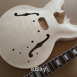 1 Jeu Inachevé Guitare Cou Et Le Corps Pour Kit De Guitare De Style Es 335
