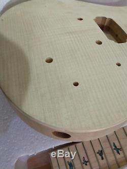1 Jeu Inachevé Guitare Cou Et Le Corps Pour Kit Guitare Style Prs Toutes Les Pièces