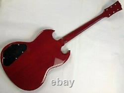 1 Jeu Rouge Fini Guitare Cou Et Le Corps Pour Le Style Sg Kit Guitare Bricolage